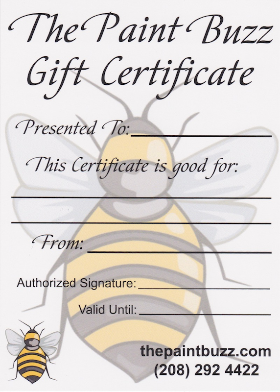 The Paint Buzz Gift Certificate